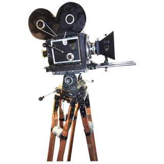 Mitchell Model A 35mm Movie Camera 1919 Design Hand Crank. Display As Sculpture. Rare And Very Important Piece. Has Disney Provenance.