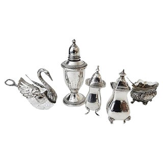 Salt & Pepper Shakers & Containers - 5 Pieces