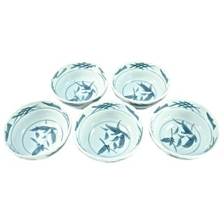 Blue & White Chinoiserie Bowls - Set of 5