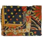 Image of Vintage Mod Orange & Navy Kantha Quilt