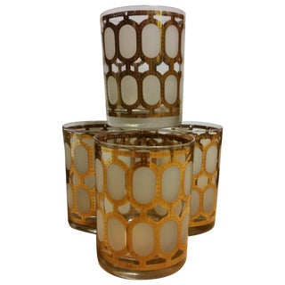 Cera Glass Old Fashioned Tumblers - Set of 4