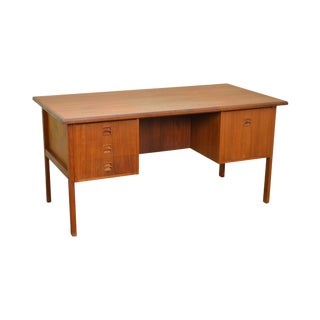 Danish Modern Mid Century Teak Writing Desk