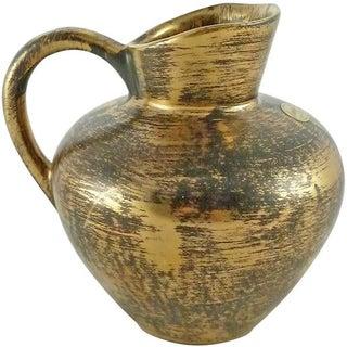 Stangl Mid-Century Black & Gold Amphora Jug