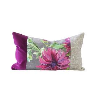 Purple and Gray Designer Down Pillow