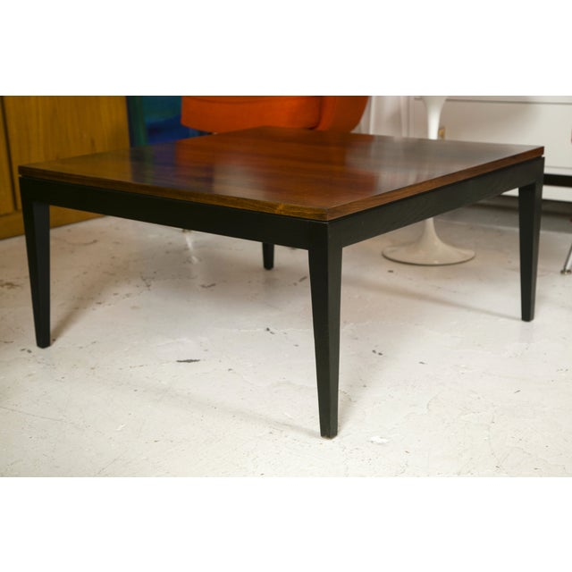 Image of 1960s Rosewood Ebonized Cocktail or Coffee Table