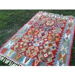 "Image of Anatolian Kilim Rug Natural Dyes - 4'6"" X 7'"