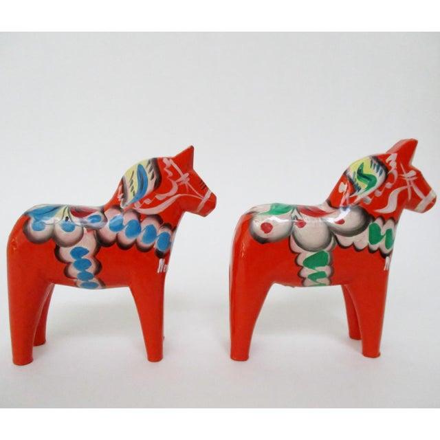 Nils Olsson Swedish Dala Horses- A Pair - Image 4 of 8