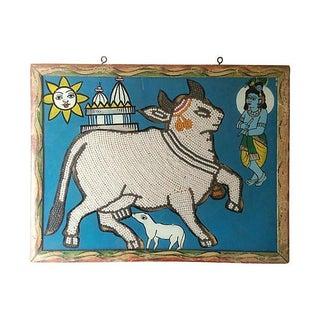 Indian Beaded Sacred Cow Églomisé
