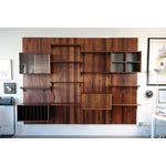 Image of Four Bay Cado System Rosewood Wall Unit