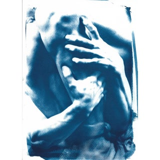 """Detail of """"Ugolino and His Sons"""" Cyanotype Print"""
