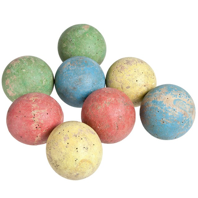 French Wood Boules - Set of 8 - Image 1 of 2
