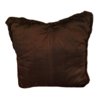 Vintage Chinese Toasted Brown Pillow