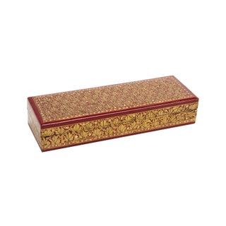 Golden Maple Kashmiri Pencil Box
