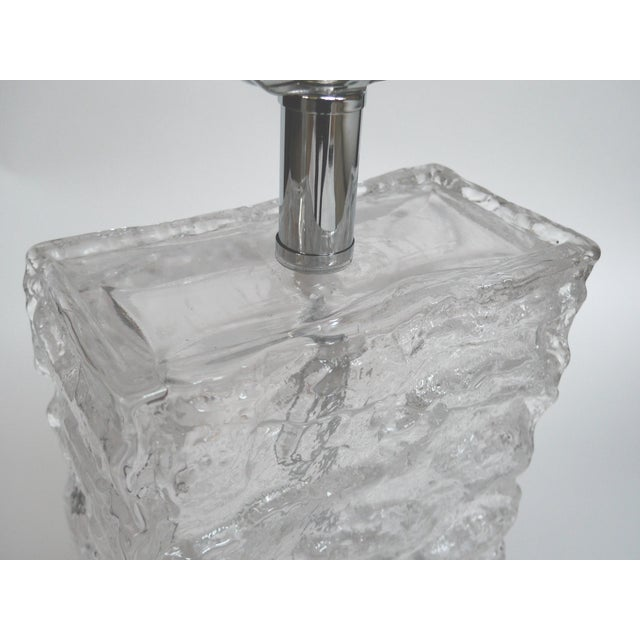 Modern Ice Cube Glass Table Lamps - A Pair - Image 6 of 8