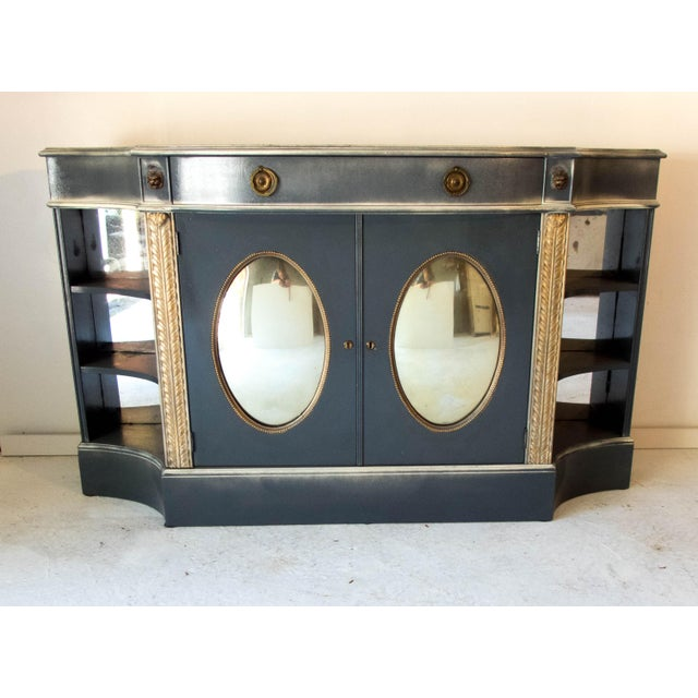 Antique Mirrored Bar Cabinet / Hall Table - Image 2 of 9