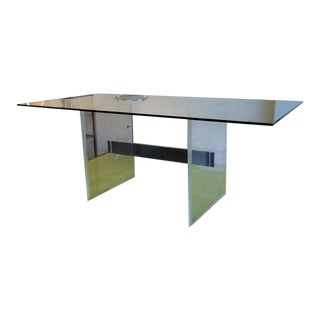 Lucite Desk or Dining Table