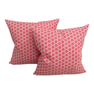 Sorell Geometric Pink Pillows - A Pair
