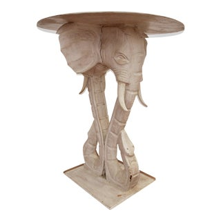 Gampel-Stoll Style Carved Elephant Table