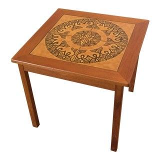 Danish Teak End Table Tile Top