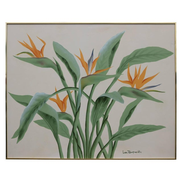 Image of Large Tropical Floral Painting by Lee Reynolds