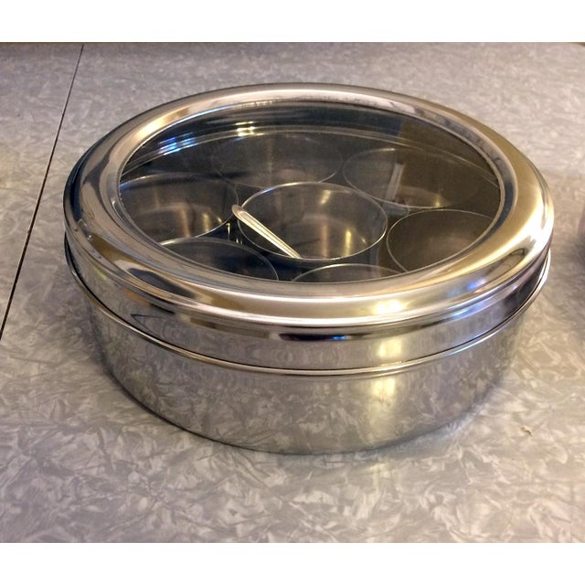 9-Spice Stainless Steel Masala Dabba Spice Box - Image 5 of 7