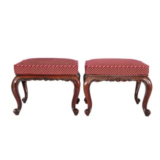 A Pair of Mid Victorian Rosewood Stools