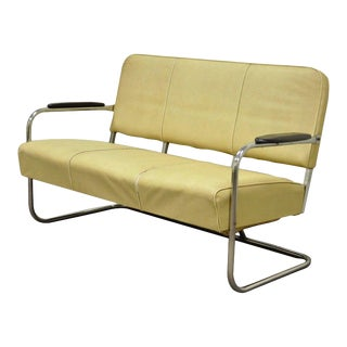 Art Deco Tubular Chrome Bench