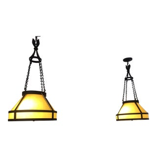 Paul Ferrante 2035 Island Hanging Fixtures - A Pair