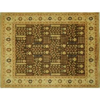 "Oushak Oriental Brown & Ivory Rug - 7'10"" x 10'1"""