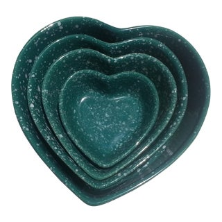Ceramic Heart Bowls- Set of 4