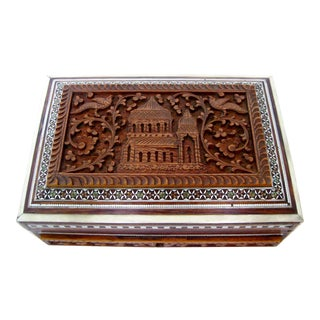 Anglo-Indian Carved Wood Box