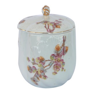 French Porcelain Lidded Canister
