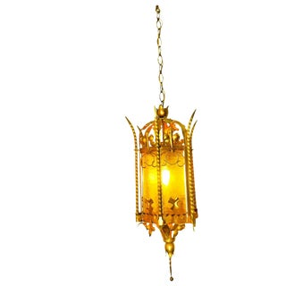 Vintage Hollywood Regency Swag Light