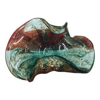 Vintage Hand Blown Murano Glass Dish Ash Tray