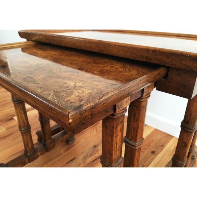 Vintage Drexel Heritage Nesting Tables - A Pair - Image 7 of 9