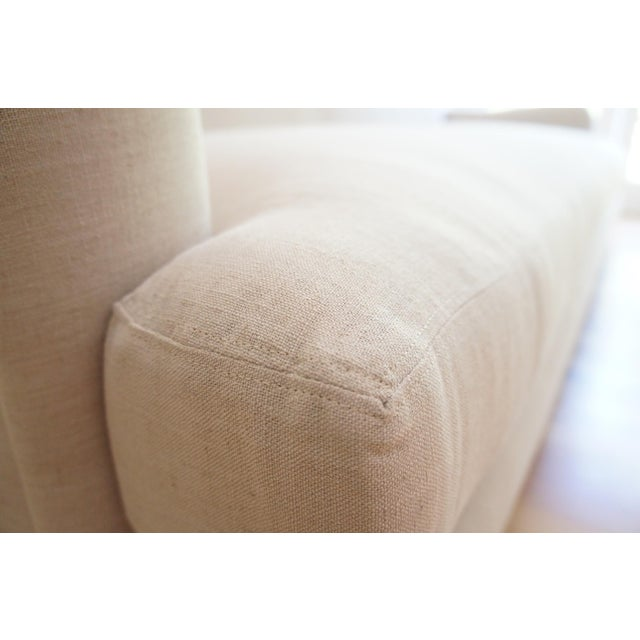 Custom Roll Arm Sofa With Modern Lines - Image 8 of 11
