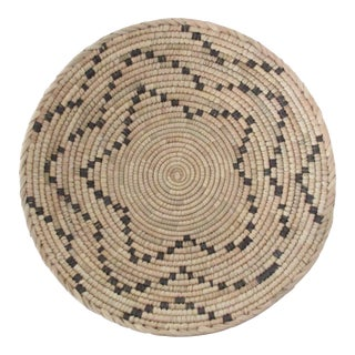 Native American Style Black Dot Pattern Basket