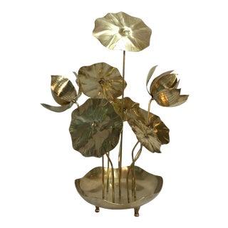 Brass Lotus Flower Arrangement