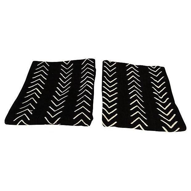 Malian Black & White Mud Cloth Textiles - A Pair - Image 5 of 9