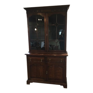Antique English Georgian Breakfront China Cabinet