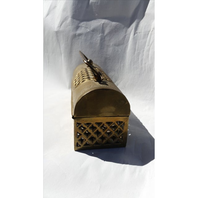 Vintage Long Brass Cricket Box - Image 5 of 5