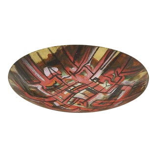 Colorful Abstract Glass Dish