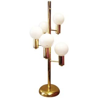 Mid-Century Three Way Brass Table Lamp
