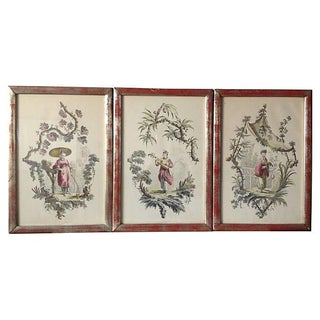 Borghese Chinoiserie Art Prints, Triptych - Set of 3