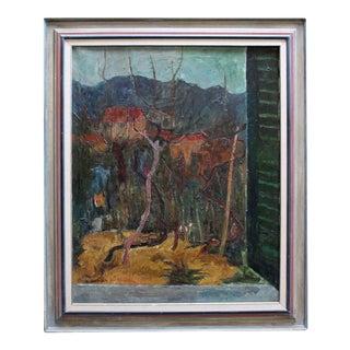 Italian Window View Painting