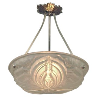 A French Art Deco Lighting Bowl to Your Custom Length