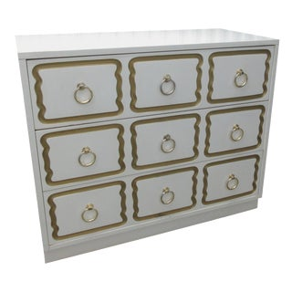 White Dorothy Draper Style Chest of Drawers
