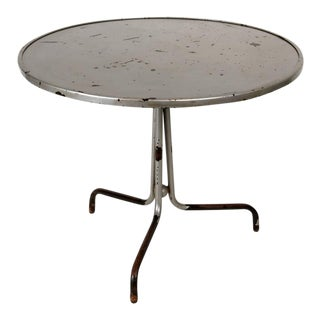 Round Silver Painted Side Table