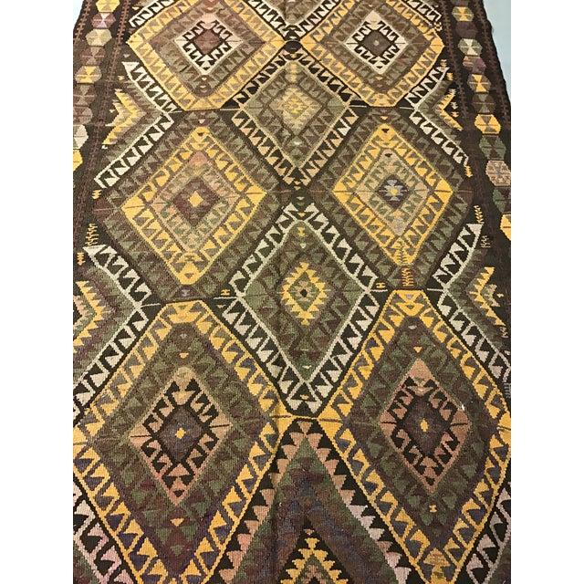 Vintage Anatolian Kars Kilim Rug - 4′8″ × 14′8″ - Image 4 of 8