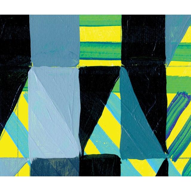 Ny15 #12 Original Geometric Painting - Image 4 of 5